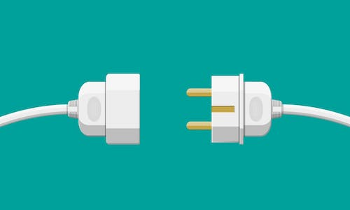 An illustration of a plug and outlet coming together.